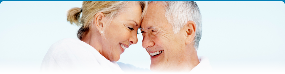 Senior couple that got services from our cosmetic dentist in Brampton